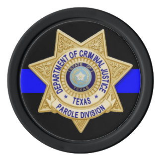 TDCJ Parole Division Coin Poker Chips Set