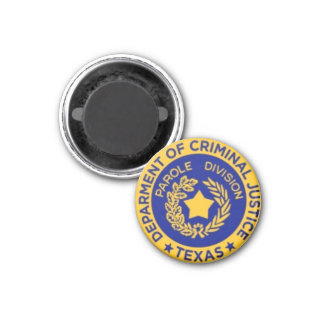 TDCJ parole officer badge magnet