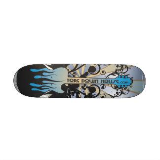 TDH Blue Grunge Guitar Skate Deck