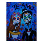 TE AMO WEDDING COUPLE POSTER