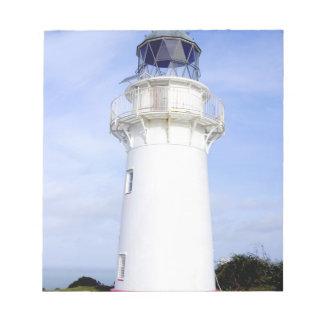 Te Araroa, New Zealand. A lighthouse gives Notepad