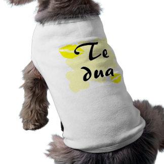 Te dua - Albanian - I Love You Doggie Shirt