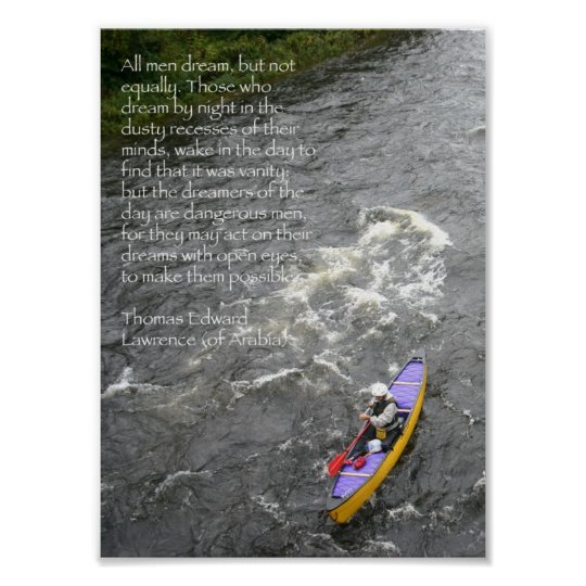 TE Lawrence Quote Poster - Paddling White River
