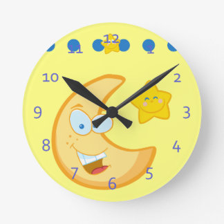 te Moon and Stars Kids Clocks