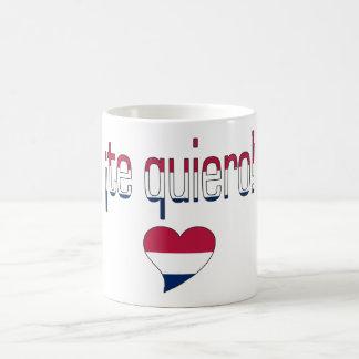 ¡Te Quiero America Flag Colors Coffee Mug