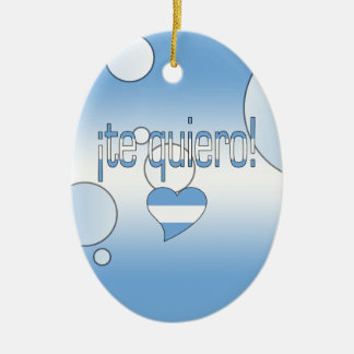 ¡Te Quiero! Argentina Flag Colors Pop Art Christmas Ornament
