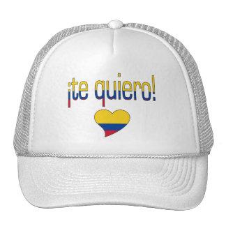 ¡Te Quiero! Colombia Flag Colors Cap