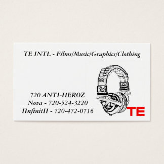 te, TE INTL - Films/Music/Graphics/Clothing, No... Business Card