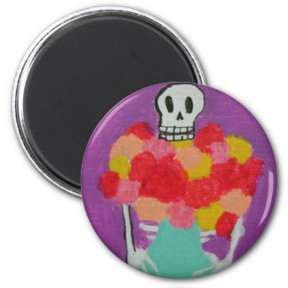 Te Traje Flores 6 Cm Round Magnet