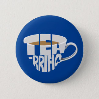 tea 6 cm round badge