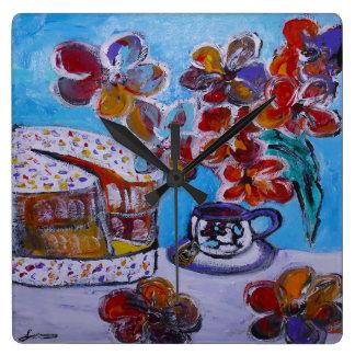 Tea and Cake Clock