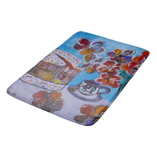 Tea and Cake Custom Large Bath Mat