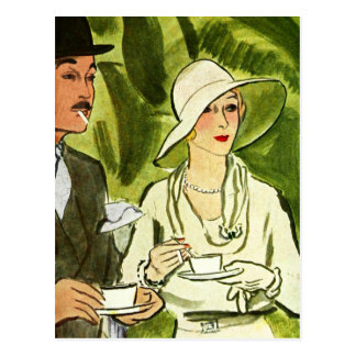 Tea and Cigarettes in the Forest Postcard