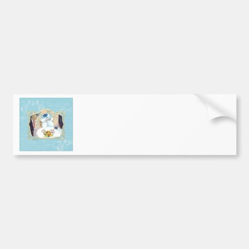 Tea and Crumpets White Poodle Tea Party Bumper Sticker