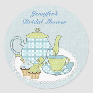 Tea and Cupcakes Classic Round Sticker