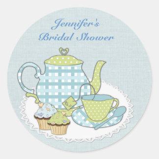 Tea and Cupcakes Round Sticker