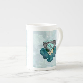 Tea and Roses Aqua Bone China Mug