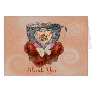 Tea and Roses Peach Card