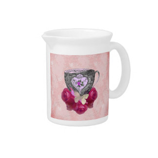 Tea and Roses Pink Pitcher