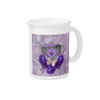 Tea and Roses Purple Beverage Pitchers