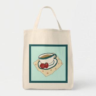 Tea and Strawberries Tote Bag