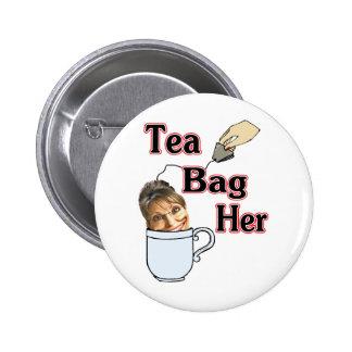 tea bag-her 6 cm round badge