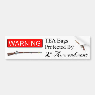 Tea Bags Protected by Second Ammendment Bumper Bumper Sticker
