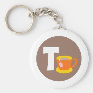 tea basic round button key ring