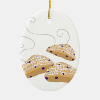 Tea Biscuits Ceramic Oval Decoration