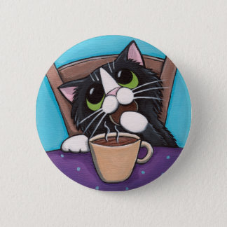 Tea Break - Cat Button