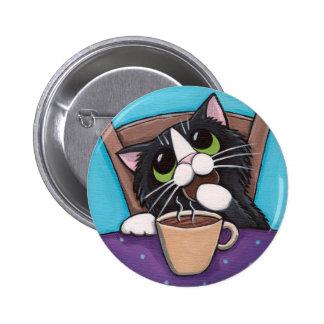 Tea Break - Cat Button