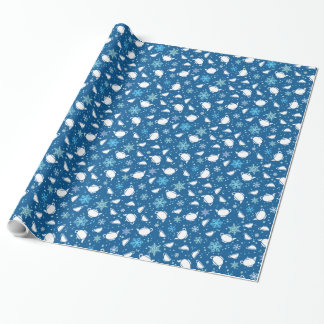 Tea Christmas Winter Wrapping Paper