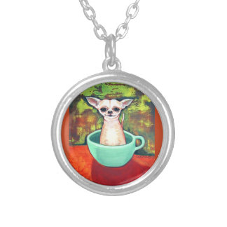 Tea Cup Chihuahua Necklace
