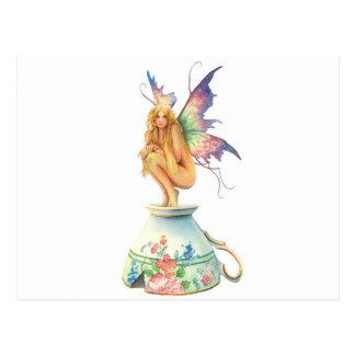 Tea Cup Fairy Postcard