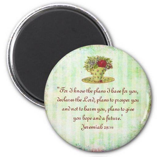 Tea Cup Scripture Magnet