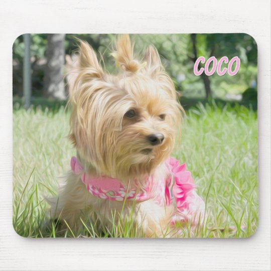 Tea Cup Yorkie Mouse Pad