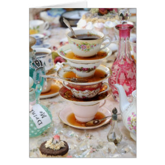 Tea Cups at a Party Card
