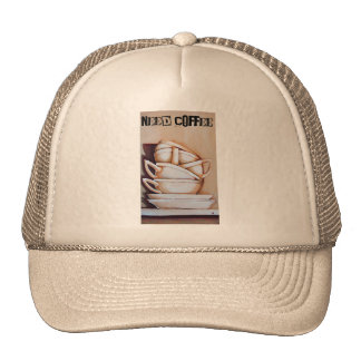 Tea Cups NEED COFFEE Hat