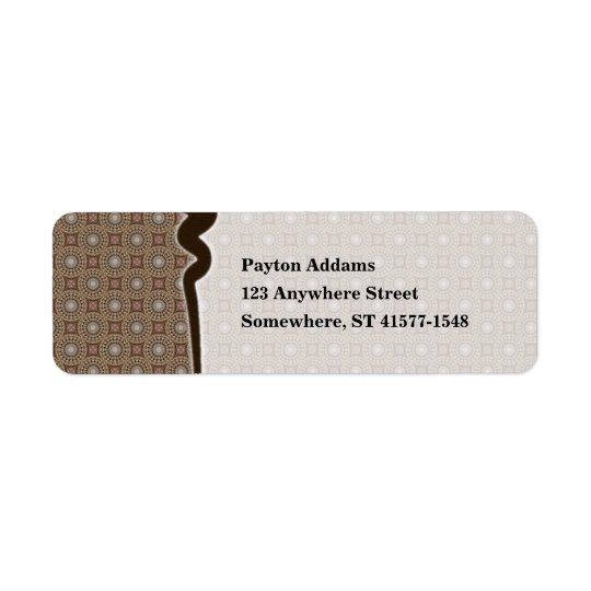 Tea Dyed Pattern 1 • Avery Label Return Address Label
