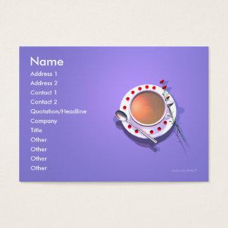 Tea Flowers - Chubby Size Business Card