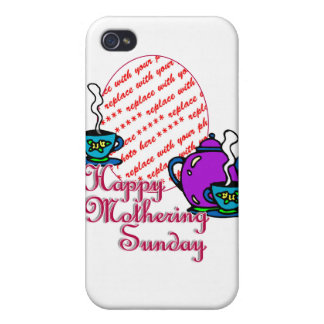 Tea For Two - Happy Mothering Sunday Photo Frame iPhone 4/4S Case