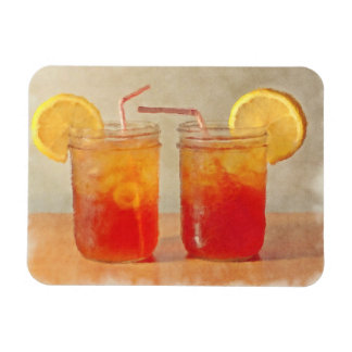 Tea for Two Southern Style Mason Jars of Sweet Tea Rectangle Magnets