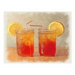 Tea for Two Southern Style Mason Jars of Sweet Tea Postcard