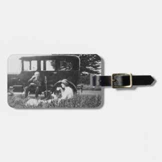 Tea For Two Vintage Image Acrylic Luggage Tag