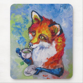 Tea Fox Mouse Mat