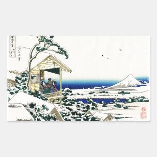 Tea House in Koishikawa Rectangular Sticker