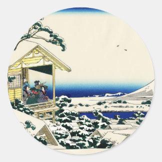 Tea House in Koishikawa Round Sticker