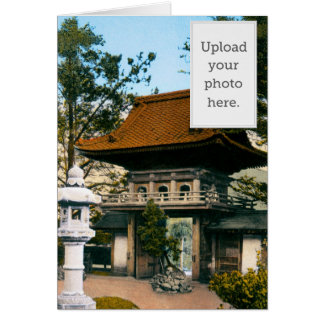 """Tea House"" Japanese Gardens Greeting Card"