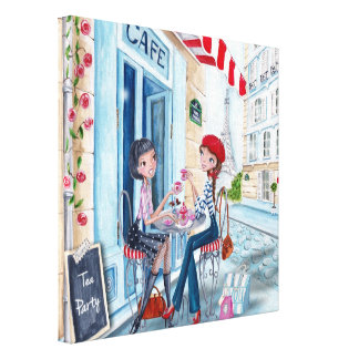Tea in Paris - Canvas Canvas Print