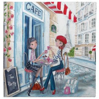 Tea in Paris - Cloth Napkin